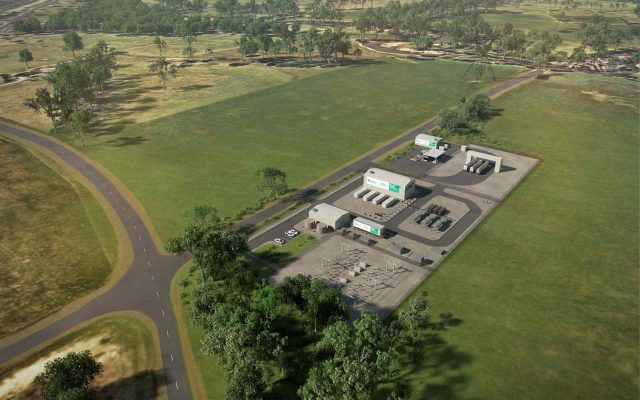 An artists impression of Australian Gas Networks' Murray Valley plant