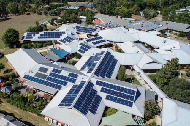 A 90 kW solar system installed on Yackandandah's local health service